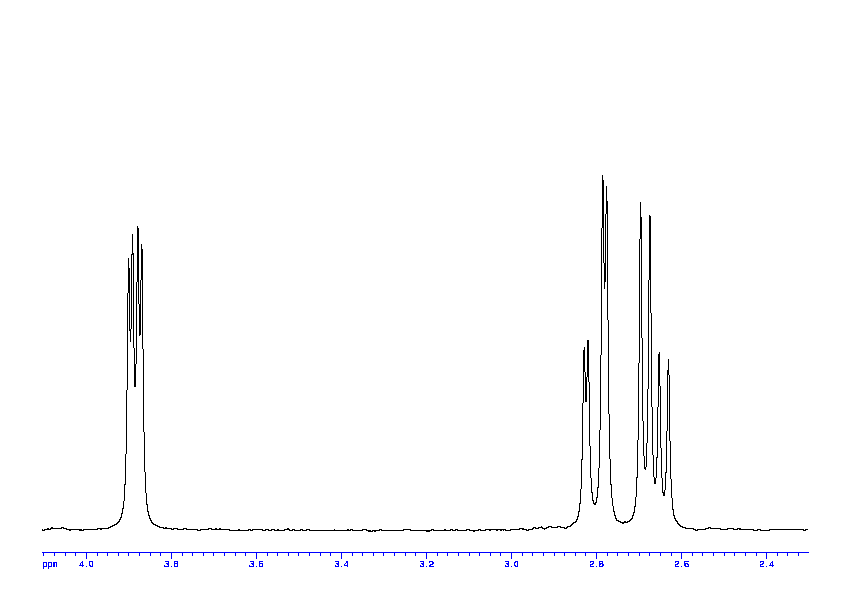 1D 1H, 7.4 spectrum for L-Aspartic acid