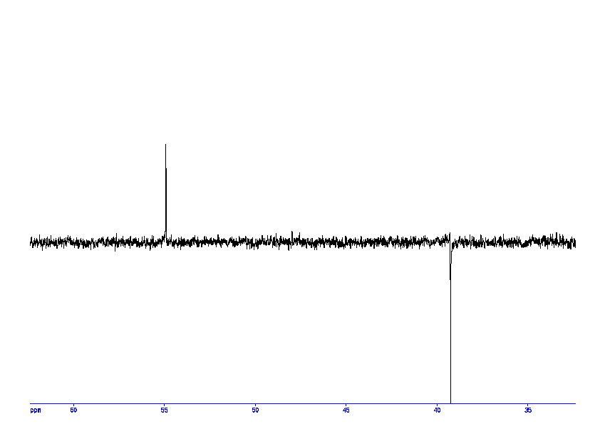 1D DEPT135, 7.4 spectrum for L-Aspartic acid