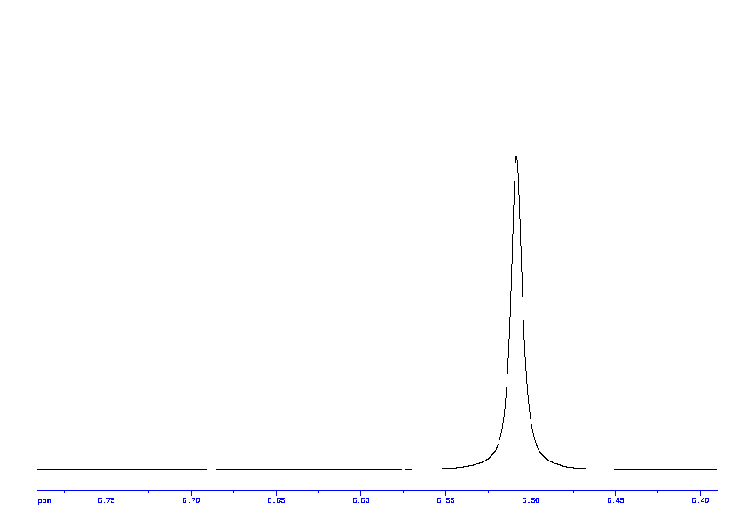 1D 1H, 7.4 spectrum for Fumaric acid