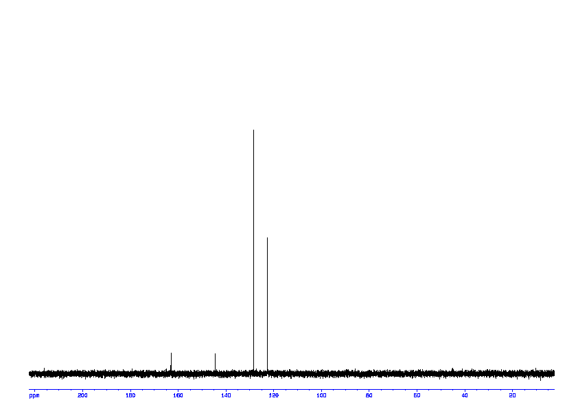 1D 13C, 7.4 spectrum for 4-Nitrophenyl phosphate