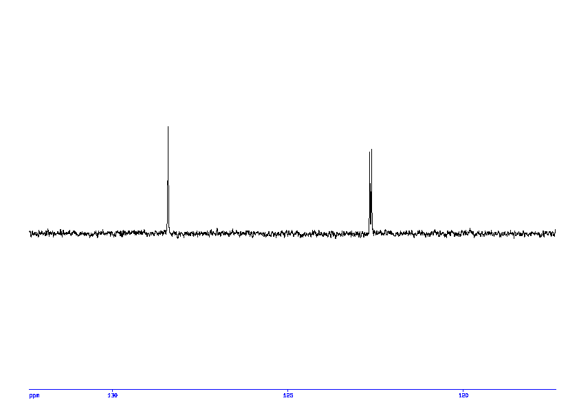 1D DEPT135, 7.4 spectrum for 4-Nitrophenyl phosphate