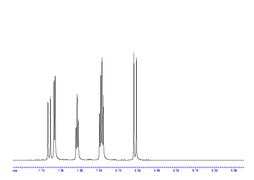 1D 1H 74 Spectrum For Trans 2 Hydroxycinnamic Acid