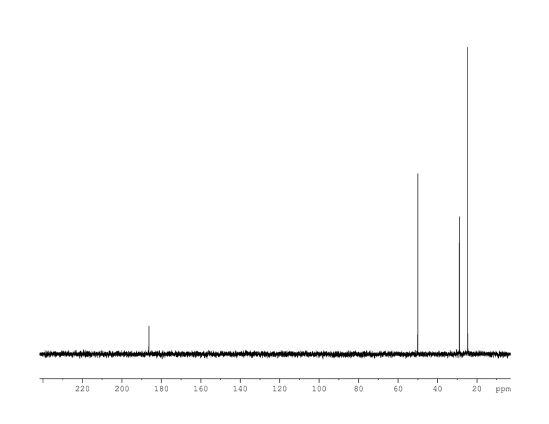 1D 13C, 7.4 spectrum for isovaleric-acid