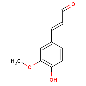 4-Hydroxy-3-methoxycinnamaldehyde image