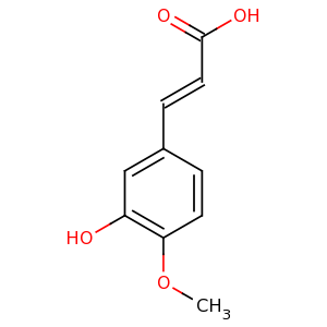 3-hydroxy-4-methoxycinnamic acid image