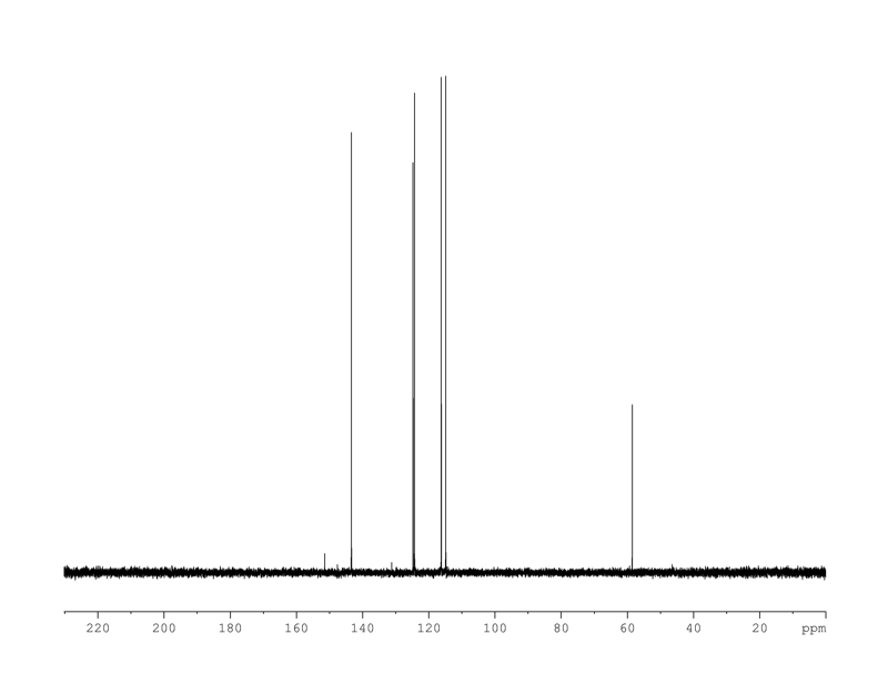 1D DEPT90, 7.4 spectrum for 3-hydroxy-4-methoxycinnamic acid
