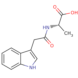N-(3-indolylacetyl)-L-alanine image