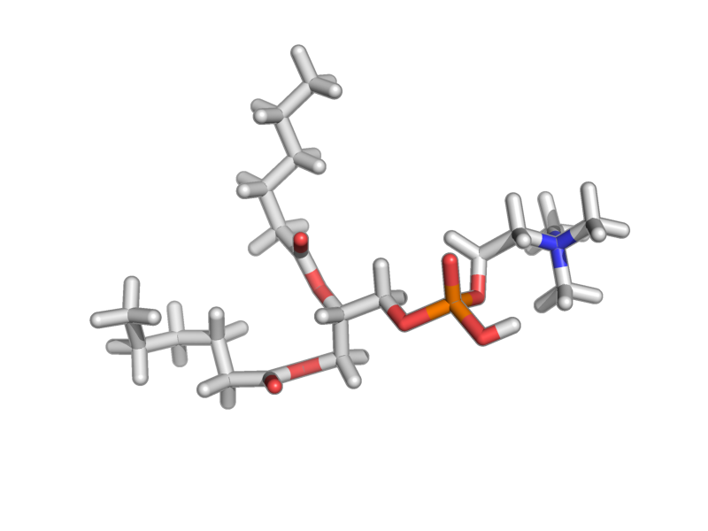 2-[2,3-di(hexanoyloxy)propoxy-hydroxyphosphoryl]oxyethyl-trimethylazanium image