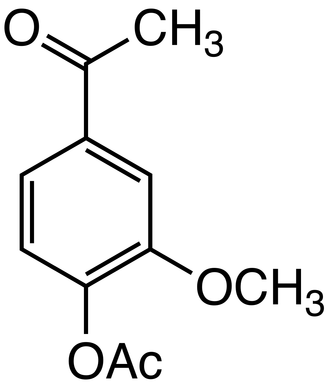 Acetylated acetovanillone image
