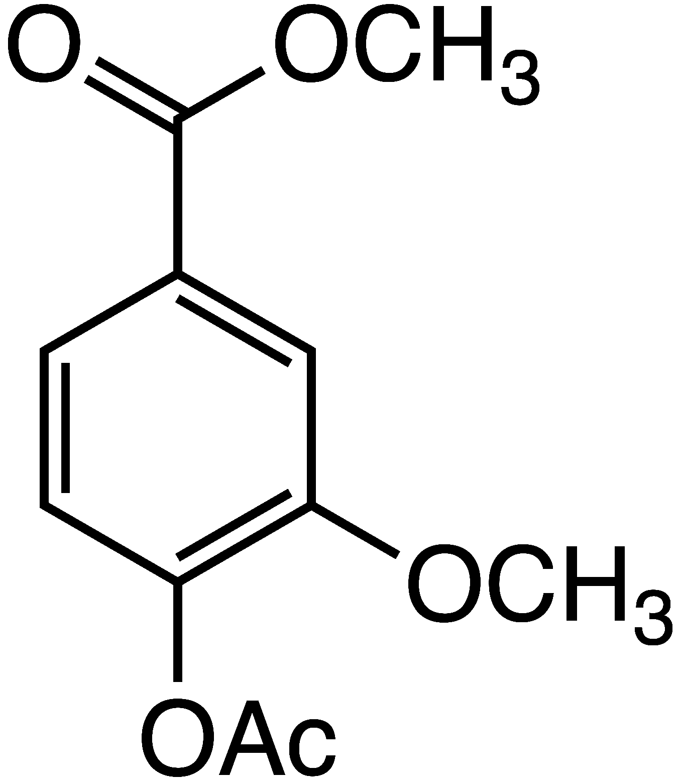 4-acetoxy-3-methoxy methyl benzoate image