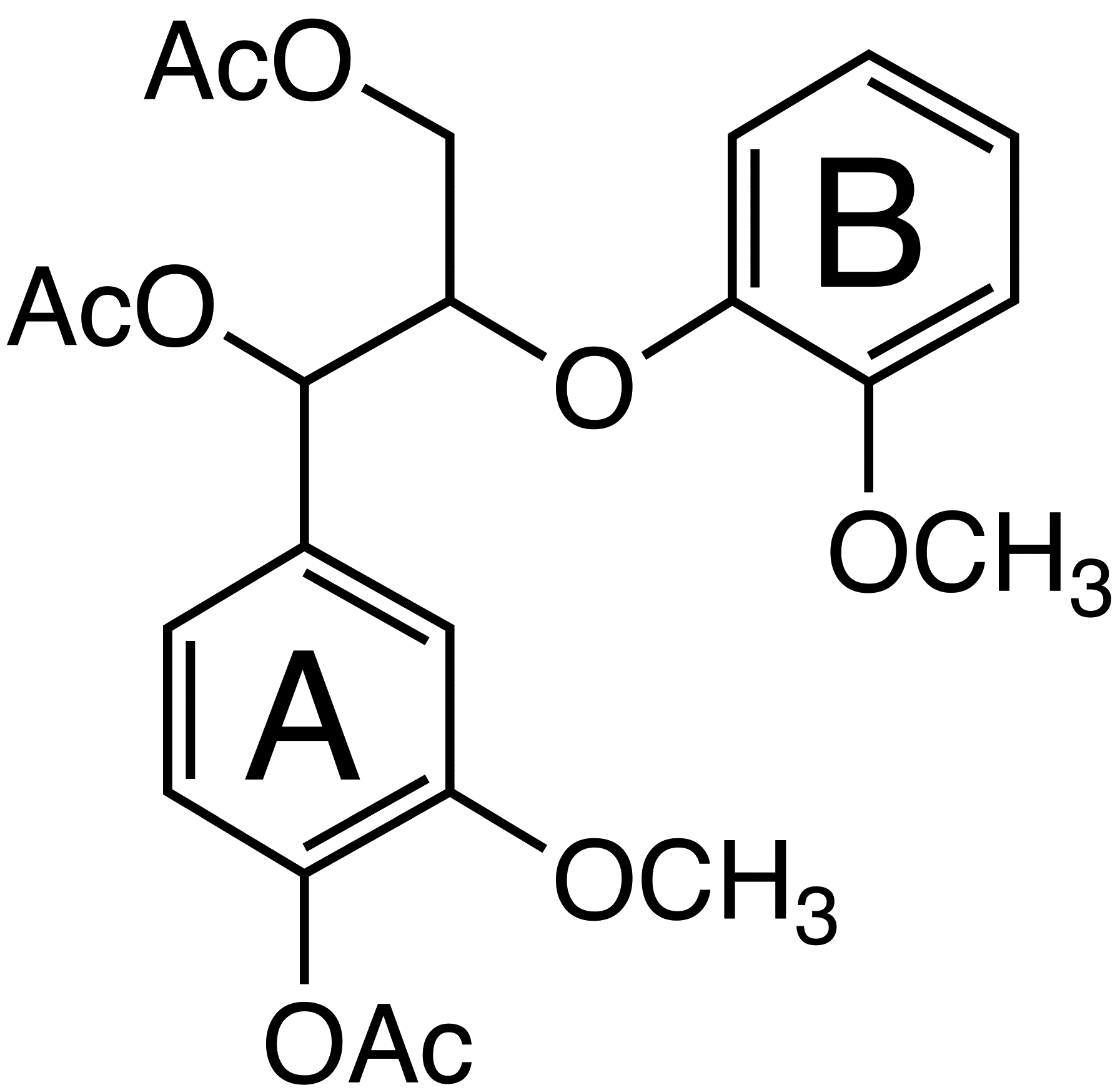 Guaiacylglycerol-B-guaiacyl ether triacetate image