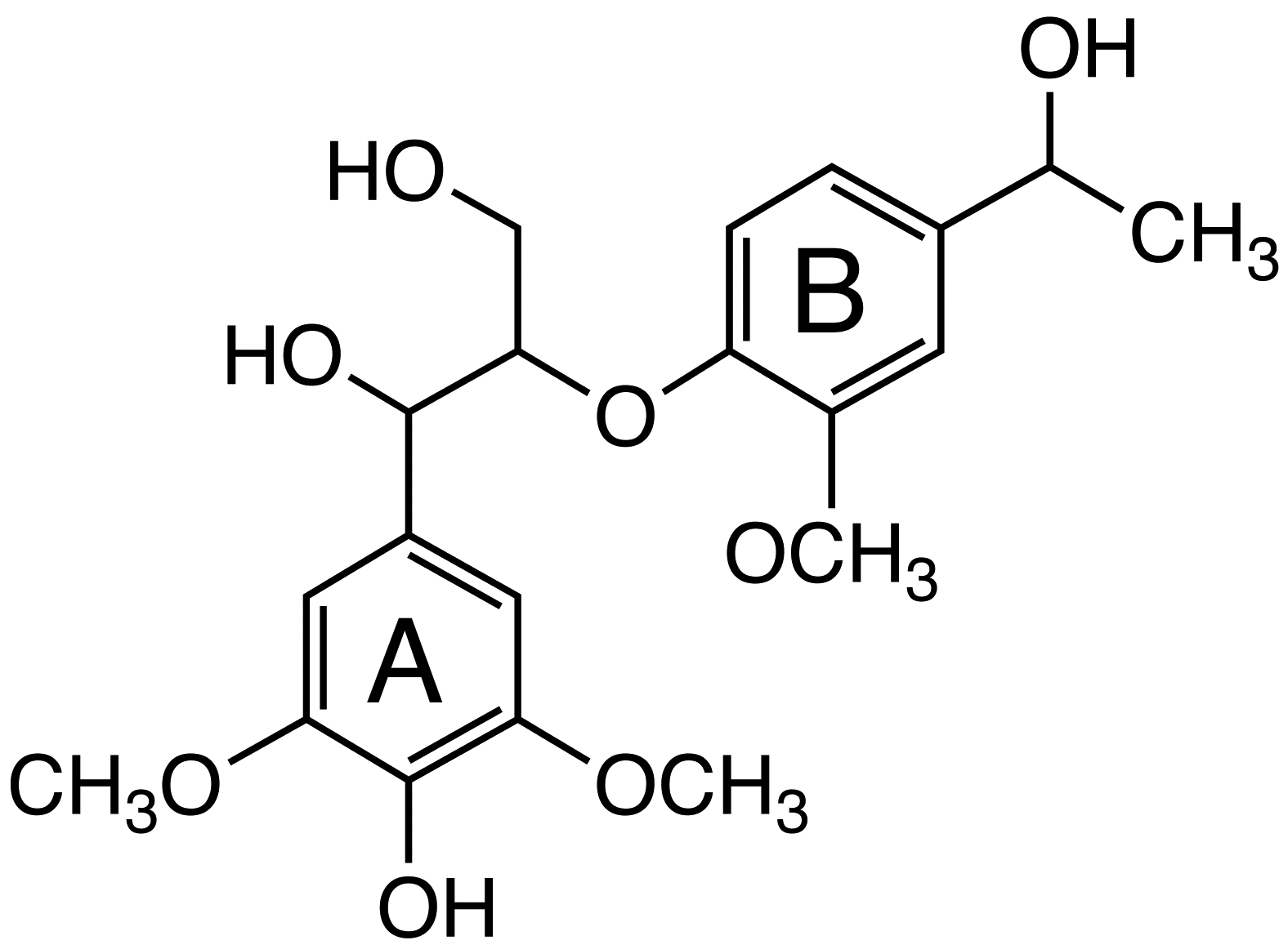 1-(4-Hydroxy-3,5-dimethoxyphenyl)-2-[4-(1-hydroxyethyl)-2-methoxyphenoxy]propane-1,3-diol  image