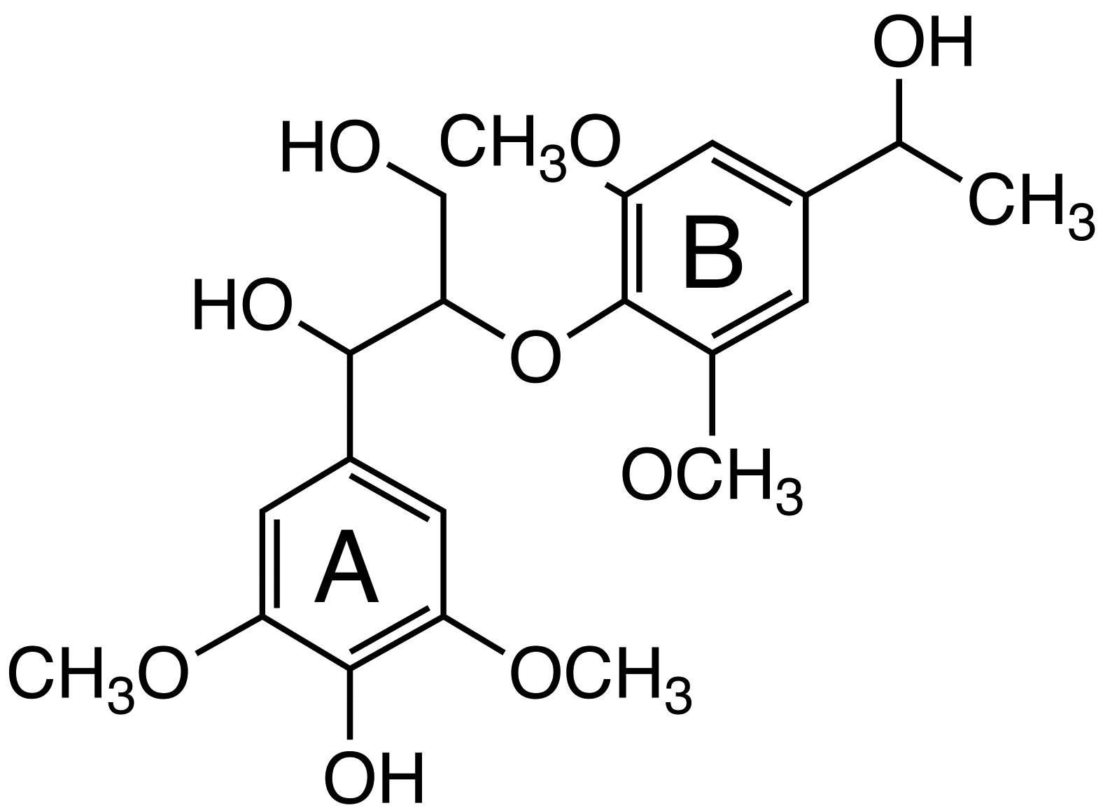1-(4-Hydroxy-3,5-dimethoxyphenyl)-2-[4-(1-hydroxyethyl)-2,6-dimethoxyphenoxy]propane-1,3-diol image