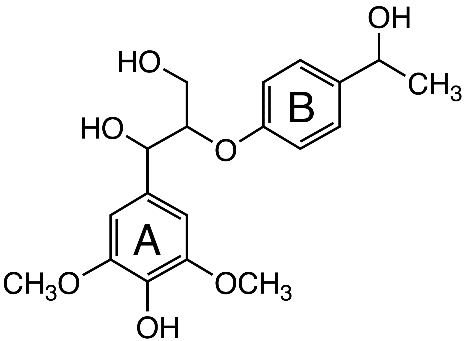 1-(4-Hydroxy-3,5-dimethoxyphenyl)-2-[4-(1-hydroxyethyl)phenoxy]propane-1,3-diol  image